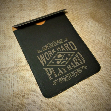 Dapper Chap 'Work hard Play Hard' tablet